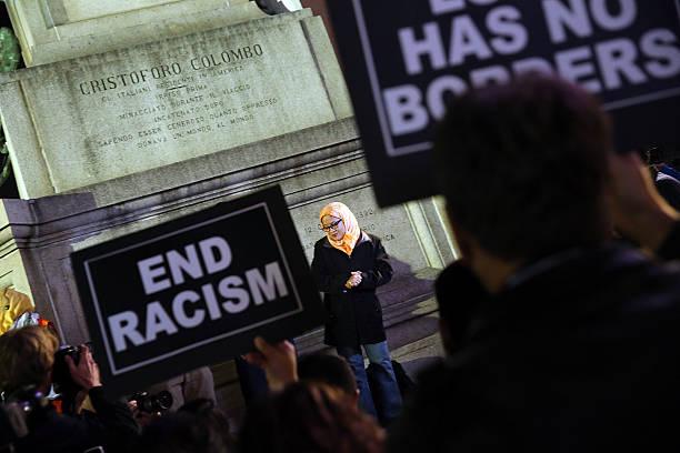 Activists Demonstrate Against Recent Rhetoric Against
