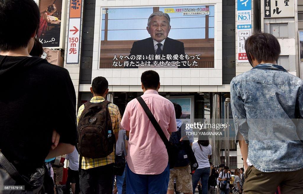 JAPAN-ROYALS-POLITICS-EMPEROR-SPEECH : News Photo