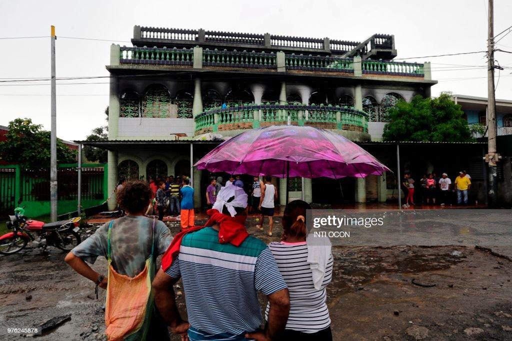 NICARAGUA-UNREST-FIRE : News Photo