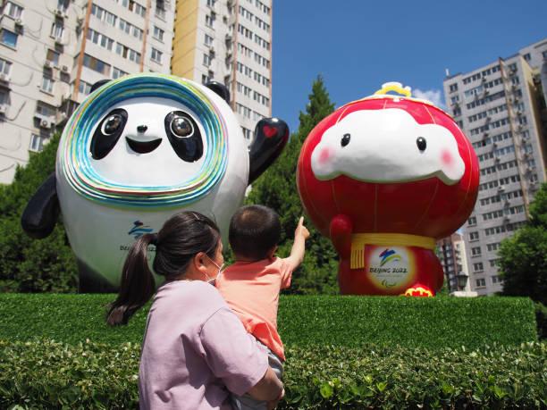 CHN: Beijing 2022 Winter Olympics And Paralympics Mascots Sculptures