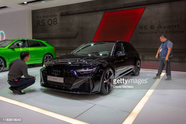 People look at the Audi RS6 Avant at AutoMobility LA on November 21, 2019 in Los Angeles, California. The four-day press and trade event precedes the...