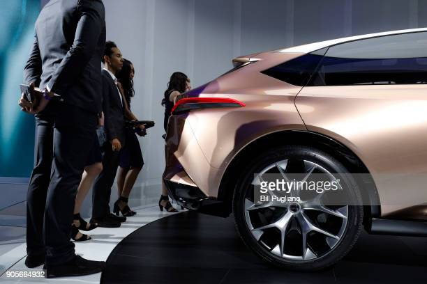 People look at the Lexus LF1 Limitless at the 2018 North American International Auto Show January 16 2018 in Detroit Michigan More than 5100...