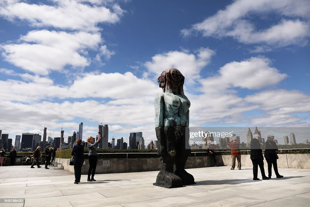 "Artist Huma Bhabha's ""We Come in Peace"" Sculptures On Display At Metropolitan Museum Of Art Rooftop Garden"
