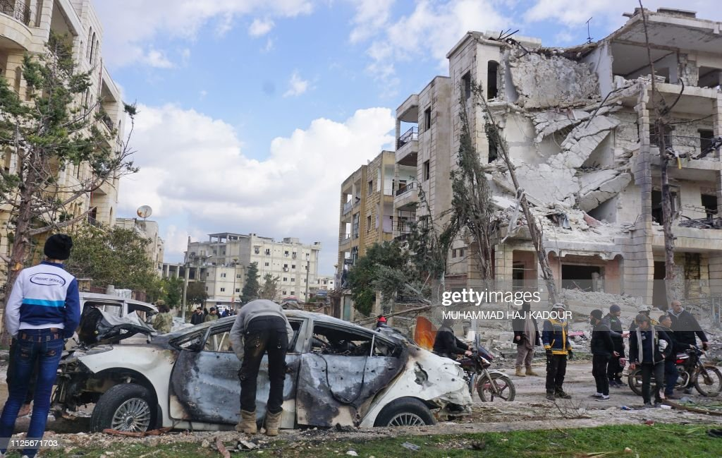 SYRIA-CONFLICT-IDLIB-BOMBINGS : News Photo