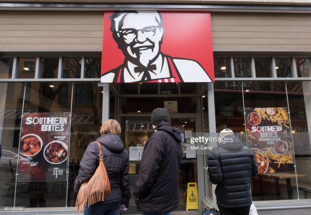 KFC Fast Food Restaurants Close After They Run Out Of Chicken : News Photo