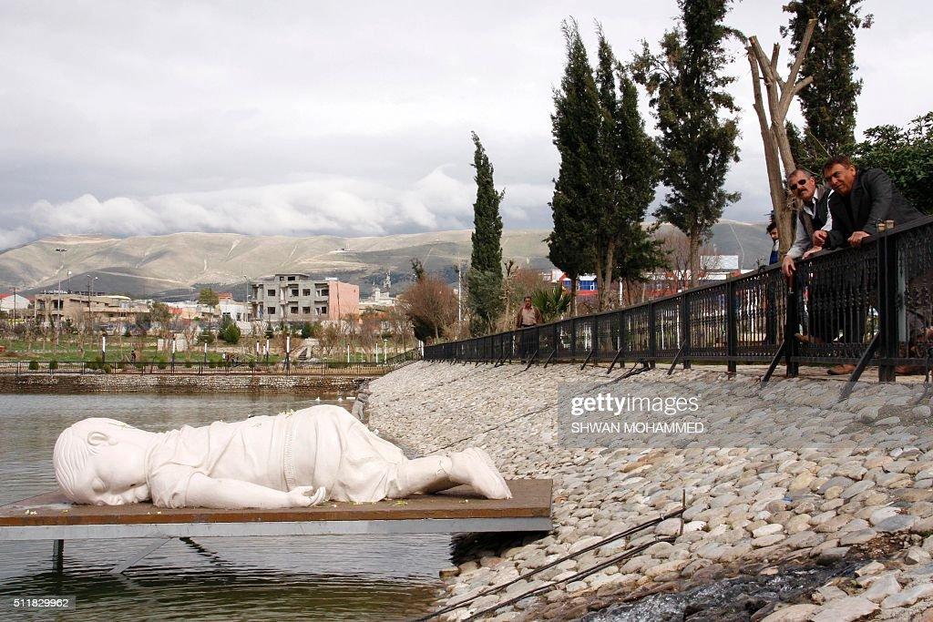 IRAQ-TURKEY-MIGRANT-ARTS : News Photo