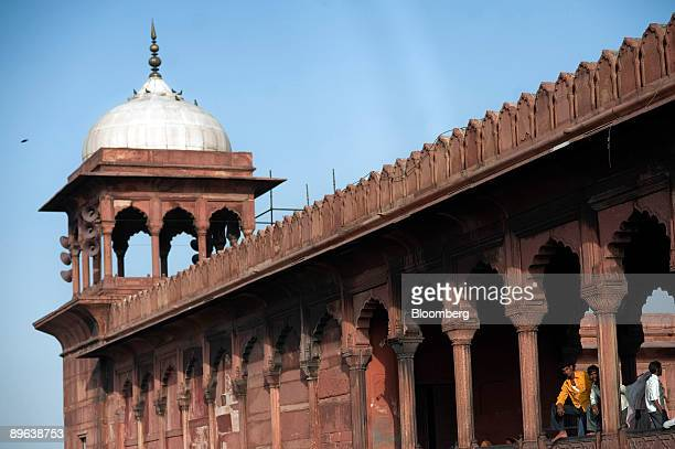 People look out from the Jama Masjid mosque in New Delhi India on Wednesday June 24 2009 India should cut interest rates rather than boost government...