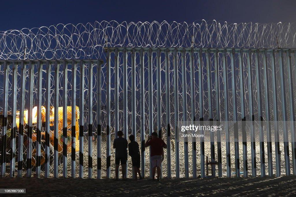 U.S. Fortifies Border Ahead Of Migrant Caravan : News Photo