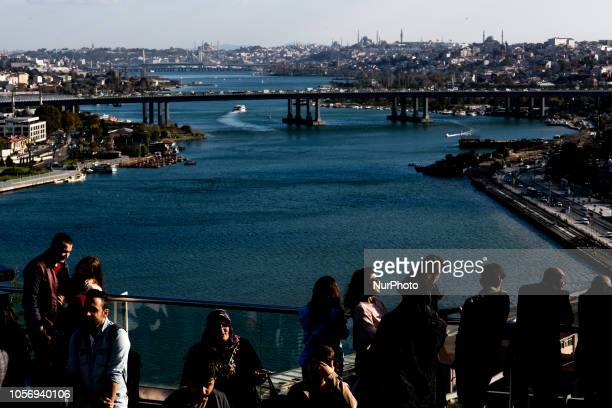 People looking at the city from Pierre Loti hill in Eyup Istanbul on