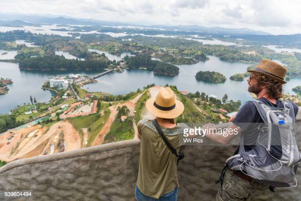 People looking at the view of Guatape
