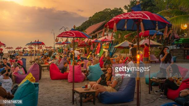 People love to hang out at the beach in Bali. Indonesia