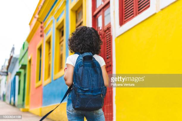 people love to travel - brazilian girls stock photos and pictures