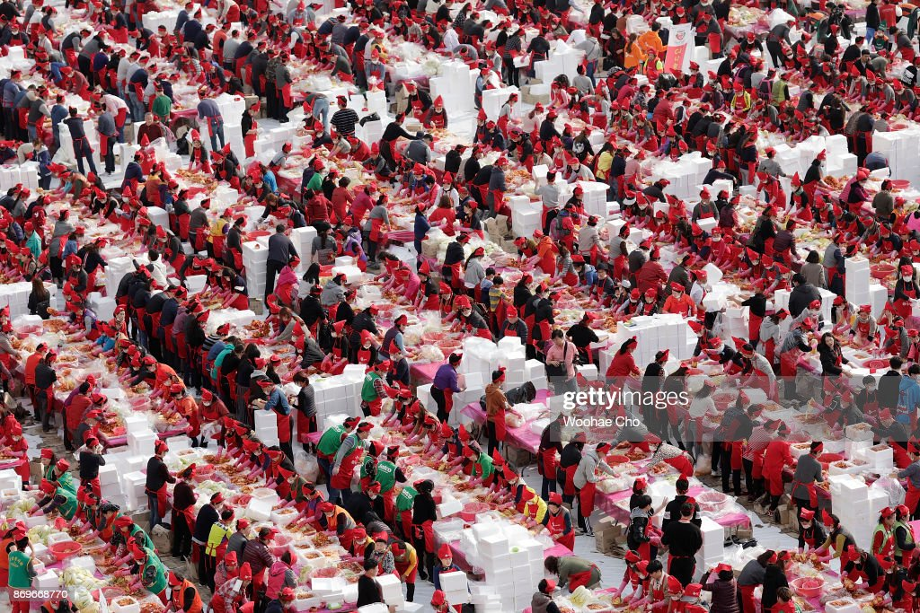 South Korean Make Kimchi For The Needy : News Photo