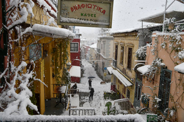 GRC: Rare Snow Halts Athens