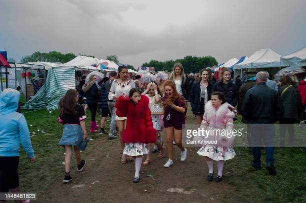 People make their way through the stands during the annual Appleby Horse Fair on June 07 2019 in ApplebyinWestmorland England The annual gathering...