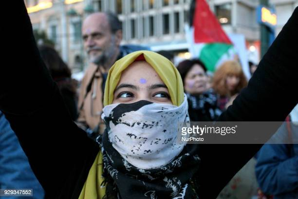 People march against violence and racism on International Womens Day in Athens Greece on March 8 2018