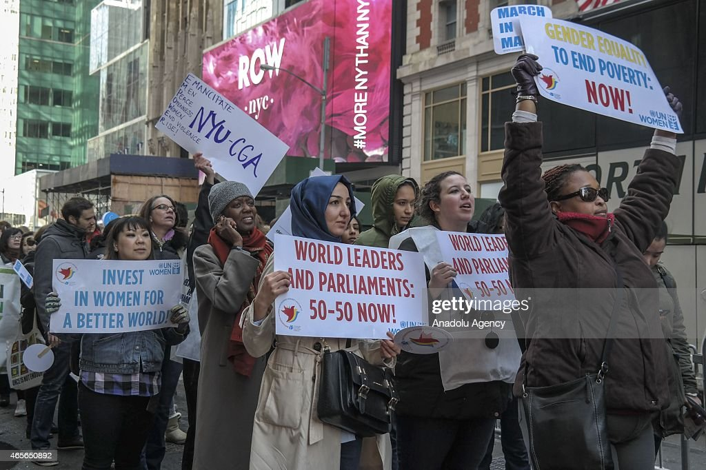 International Women's Day march in New York : News Photo