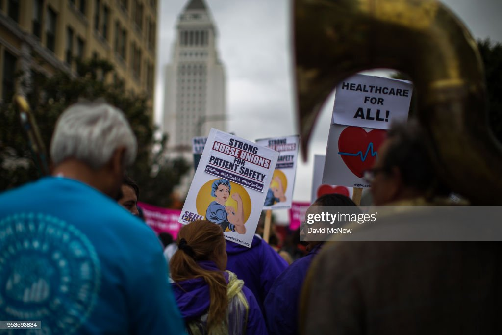 May Day Protest Held In Los Angeles : News Photo