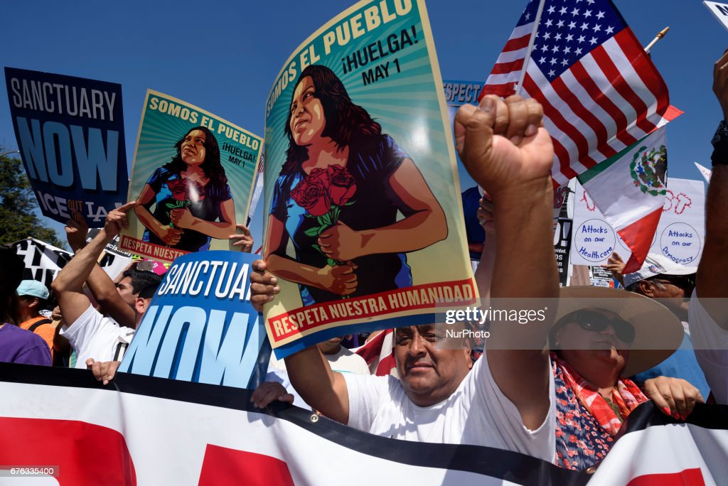 May Day Protest in Los Angeles : News Photo