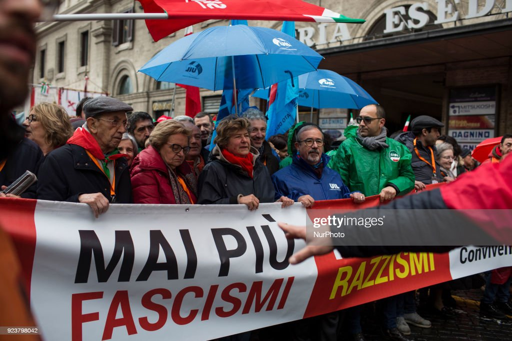 Anti fascism and racism march in Rome
