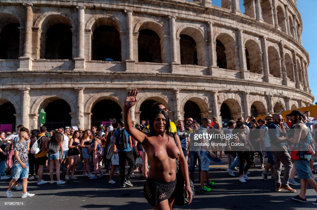 Gay Pride Parade Takes Place In Rome : News Photo