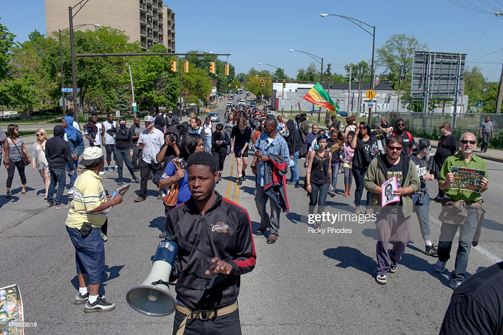 Protests Break Out After Cleveland Police Officer's Acquittal : News Photo