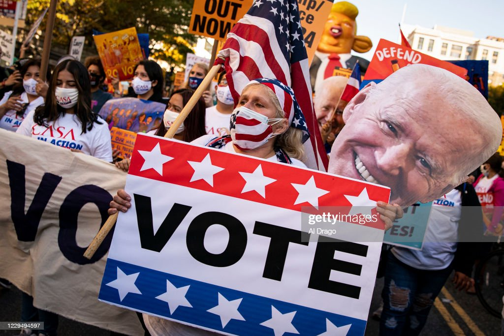 Protests Continue In Washington, DC As Presidential Contest Remains Undecided : News Photo