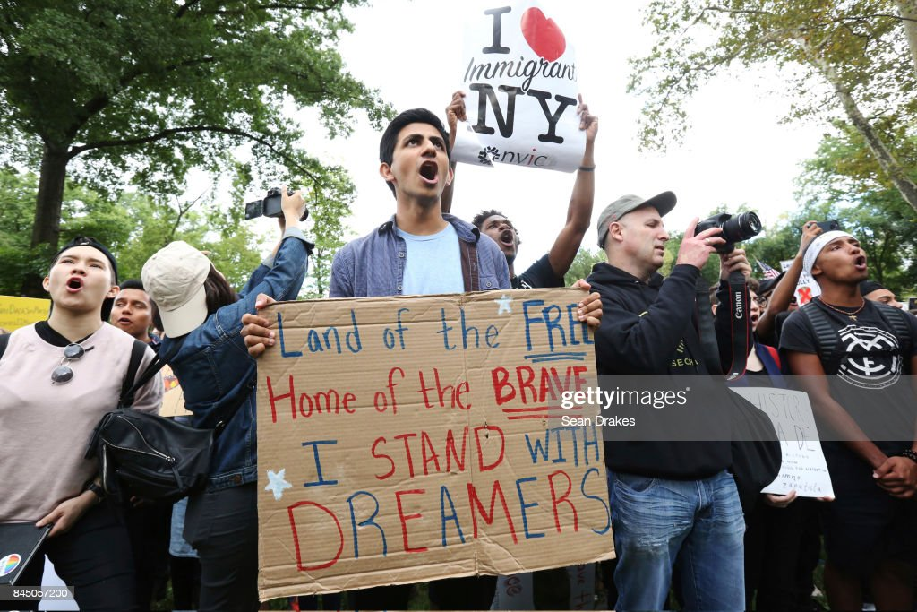 Immigration Activists Rally Against President Trump's Decision To End DACA Program : News Photo
