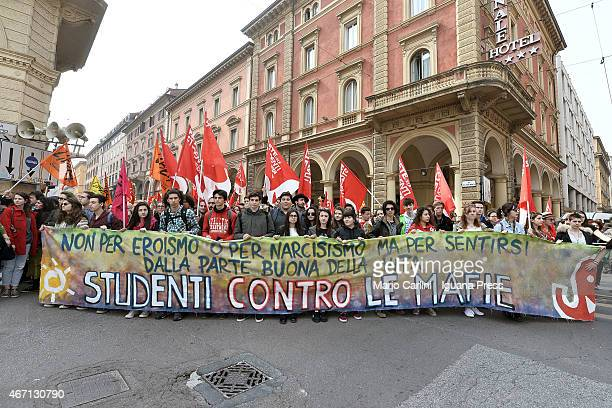 People march with 200000 participants for the 20th anniversary of the foundation of Libera on March 21 2015 in Bologna Italy Founded on 25 March 1995...