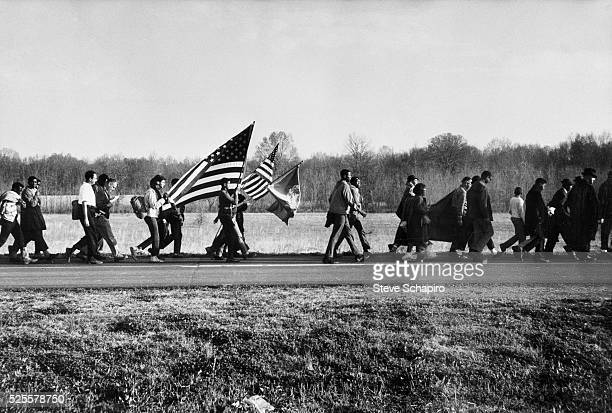 People march with Dr Martin Luther King Jr during the Selma to Montgomery Civil Rights Marches in 1965 The first march attempt was marked by violent...