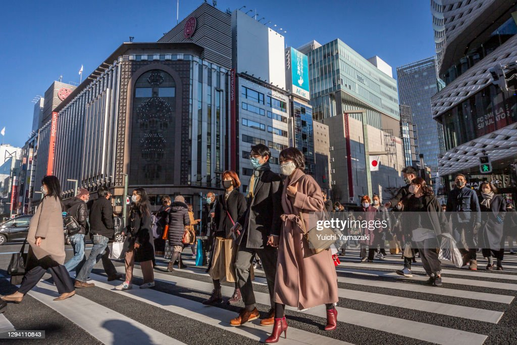 January Sales Amid Covid-19 In Ginza District : ニュース写真