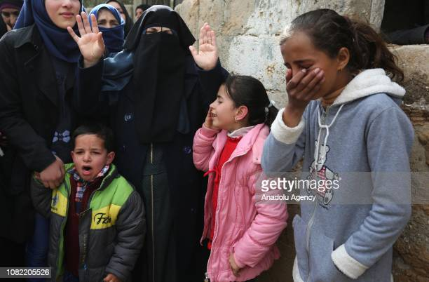People mourn around the dead body of 33yearold Palestinian man Anwar Qudaih who got wounded after the intervention of Israeli soldiers in 'Great...