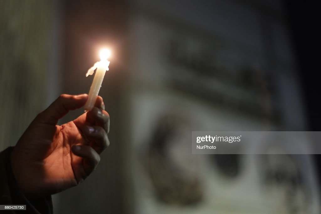 People mourn in front of the journalists syndicate for Al-Rawda mosque victims in Cairo, Egypt, Monday, Nov. 27, 2017. riday's assault was Egypt's deadliest attack by Islamic extremists in the country's modern history, a grim milestone in a long-running fight against an insurgency led by a local affiliate of the Islamic State group.