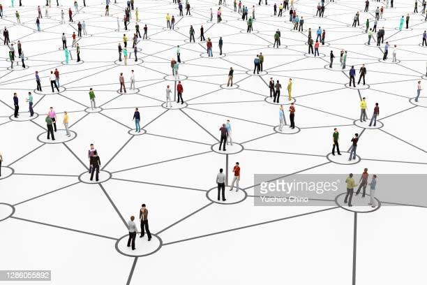 people network connection - bonding stockfoto's en -beelden