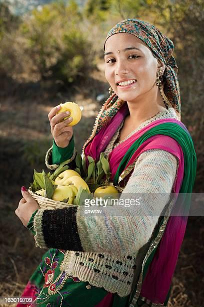 People of Himachal Pradesh: Beautiful woman with golden apples