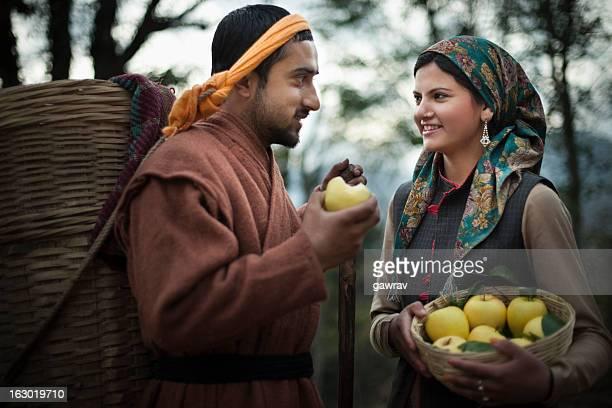 People of Himachal Pradesh: Enjoying fresh and juicy apples