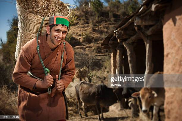 People of Himachal Pradesh: Happy young farmer at work