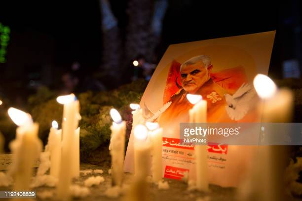 People of Iran in various parts of the country especially the people of the Iranian capital lit candles and mourned the night of General Qasem...
