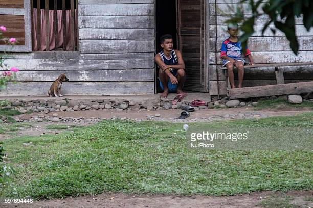 People of Padang West Sumatra Indonesia on 29 August 2016 The latest official estimate for January 2014 shows a population of 5790 West Sumatra is...