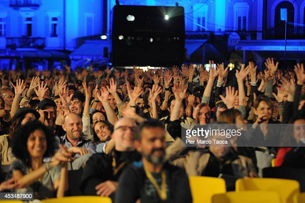 People of Piazza Grande attend 'Marie Heurtin' premiere the 67th Locarno Film Festival on August 10 2014 in Locarno Switzerland
