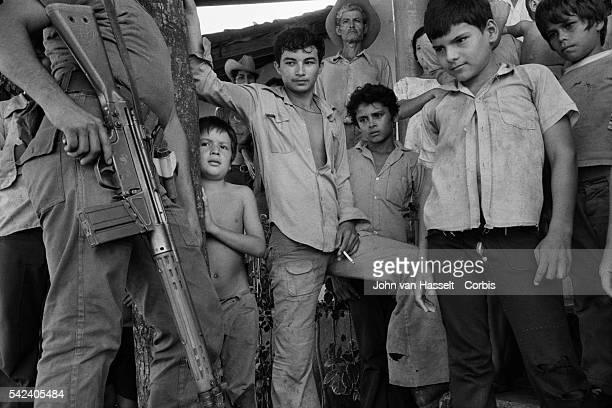 People of San Antonio de La Cruz a village under the control of the army during the civil war | Location San Antonio de la Cruz El Salvador