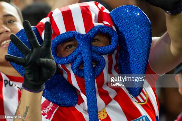 People of the city of Barranquilla supporting the Junior team during the final second leg match between Deportivo Pasto and Atletico Junior as part...