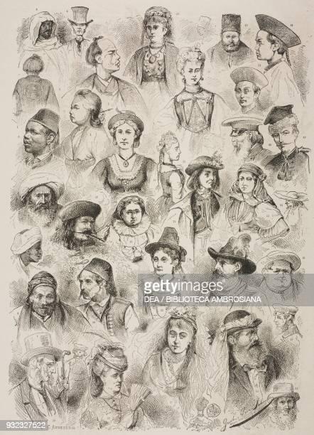 14 Japanese people 5 Bedouin 6 Black 7 Armenian merchant 9 Arab man 10 Persian men 11 Chinese men 12 Wallachian woman 13 Swiss woman 14 Styrian woman...