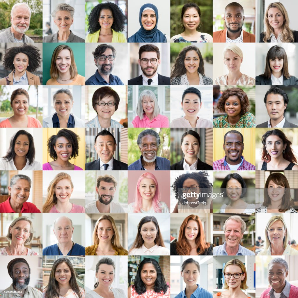 People of the world portraits - ethnic diversity : Stock Photo
