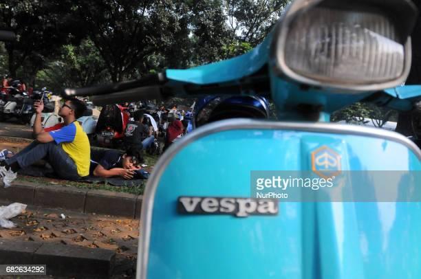 People of Vespa association promote the moment of Jakarta Mods Mayday 2017 on May 13 2017 Jakarta Mods Mayday 2017 is a gathering event of Vespa...