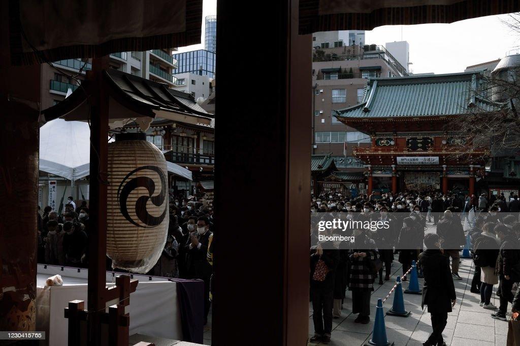 Prayers At Kanda Myojin Shrine On The First Business Day Of 2021 : ニュース写真