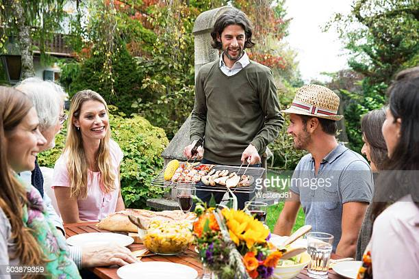 People on a barbecue