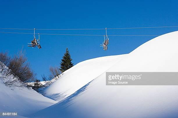 People on a ski lift