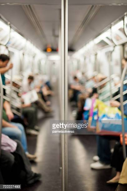 People on a subway train