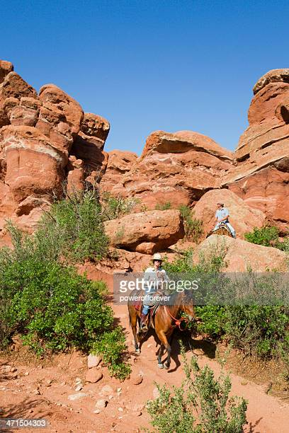 People on a Trail Ride in Garden of the Gods